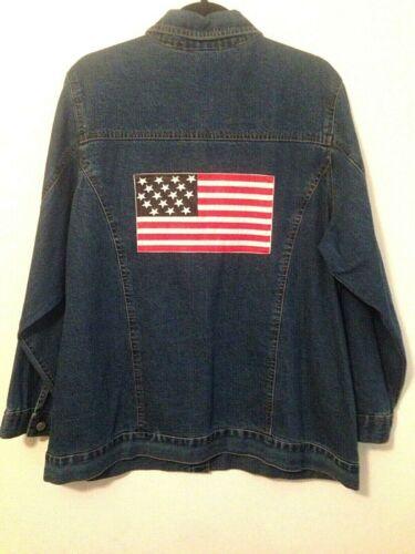 L Flag Jacket Long Denim Roamans Usa a70nP