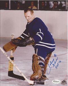 Johnny-Bower-Toronto-Maple-Leafs-Autographed-Signed-8x10-Photograph-JSA-SOA