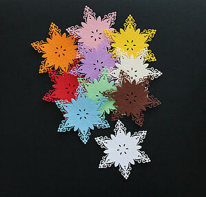 6PC-BIG-Snow-Flake-Flower-Doily-Paper-Die-Cuts-Scrapbooking