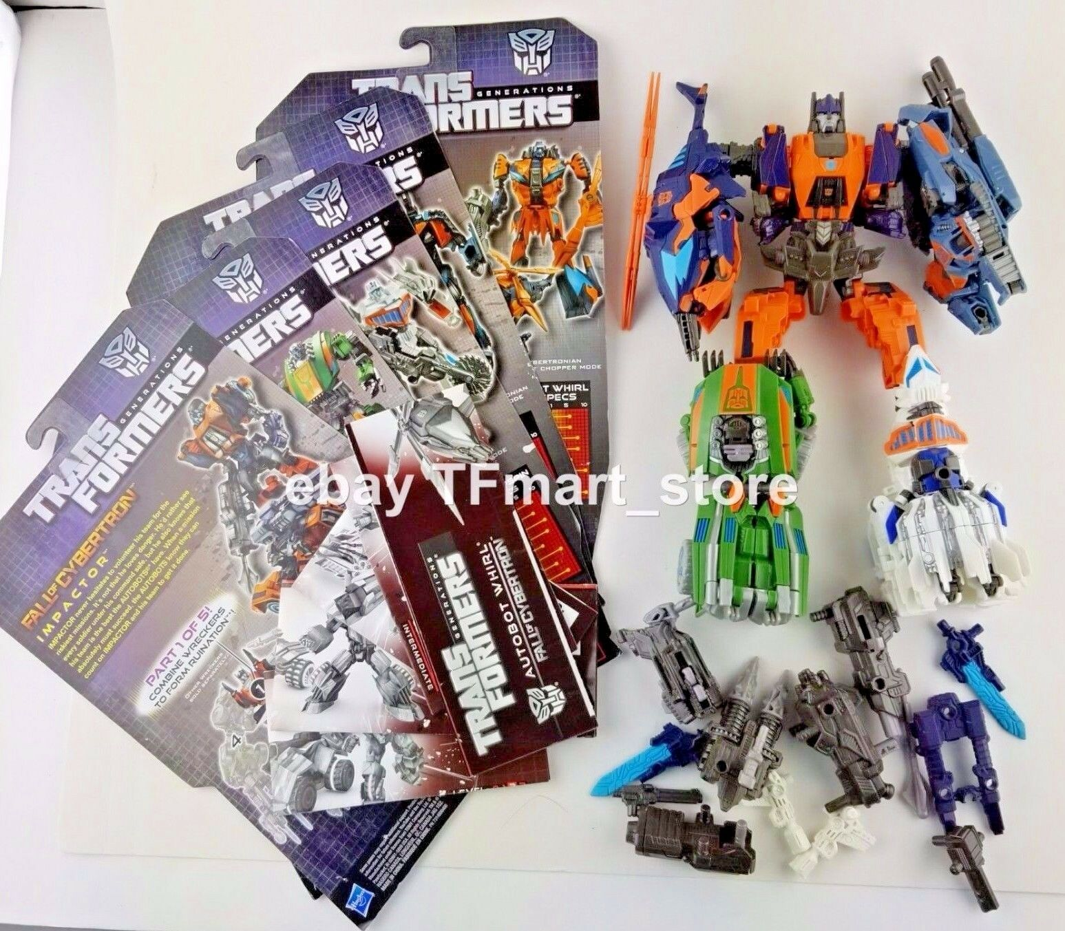 Transformers Generations Fall of Cybertron FOC ruine Combineur Set