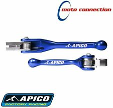 APICO FLEXIBLE LEVER SET BLUE FOR YAMAHA YZF250 YZF450 2016  :YAM3BU