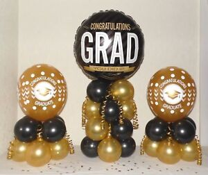 No Helium Needed TABLE DECORATION 50th BIRTHDAY 3 PACK  FOIL BALLOON DISPLAY