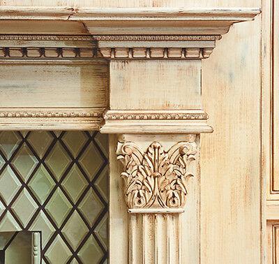 White River CRV5130 Medium Corinthian Capital Wood Carving 1-3/4 x 8 x 8 NEW