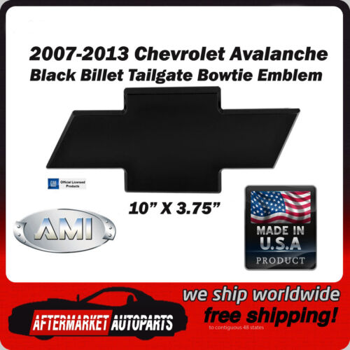 07-13 Chevy Avalanche Black Powder Coat Billet Bowtie Tailgate Emblem AMI 96094K