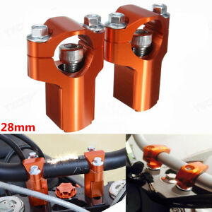 28mm-CNC-HandleBar-Clamp-Risers-Bar-Mount-For-KTM-125-530-SX-SXF-EXC-EXCF-XCF-XC