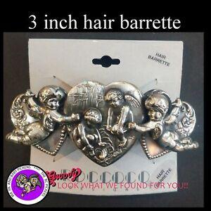 034-JJ-034-Jonette-Jewelry-Silver-Pewter-039-Angels-Heart-Wings-039-Hair-Barrette