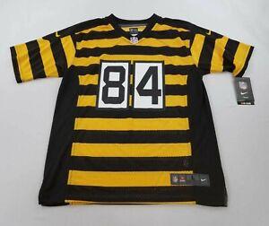 new-NIKE-youth-jersey-NFL-STEELERS-84-Brown-Antonio-yellow-black-sz-L-14-16