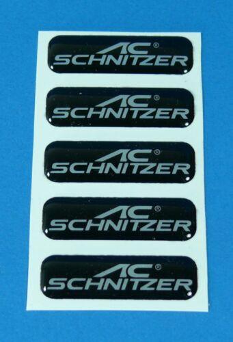 AC Schnitzer Emblem Vitro schwarz 5 Stück ca 40x11mm