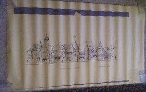 Vintage-Disneyland-Pinocchio-Ride-amp-Geppetto-Shop-Blue-Print-Copy-of-Facades