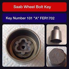 """Genuine Saab locking wheel bolt / nut key FER 1702 101 """"A"""""""