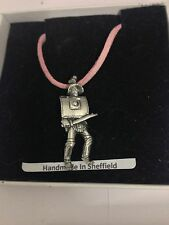 Roman Gladiator Thracian WE-GP4 Pewter Pendant on a PINK CORD Necklace