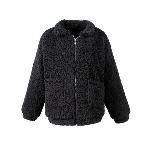 Hooded Lommer Warm Jacket Outerwear Coat Zip Fur Furry Kvinders Brun Fleece n4X5qOxHY