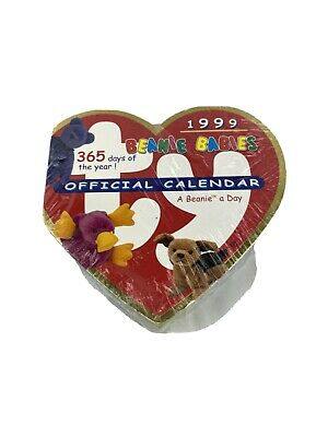 Ty Heart Beanie Baby A Day Calendar 1999 (Same As 2021) Tear Off