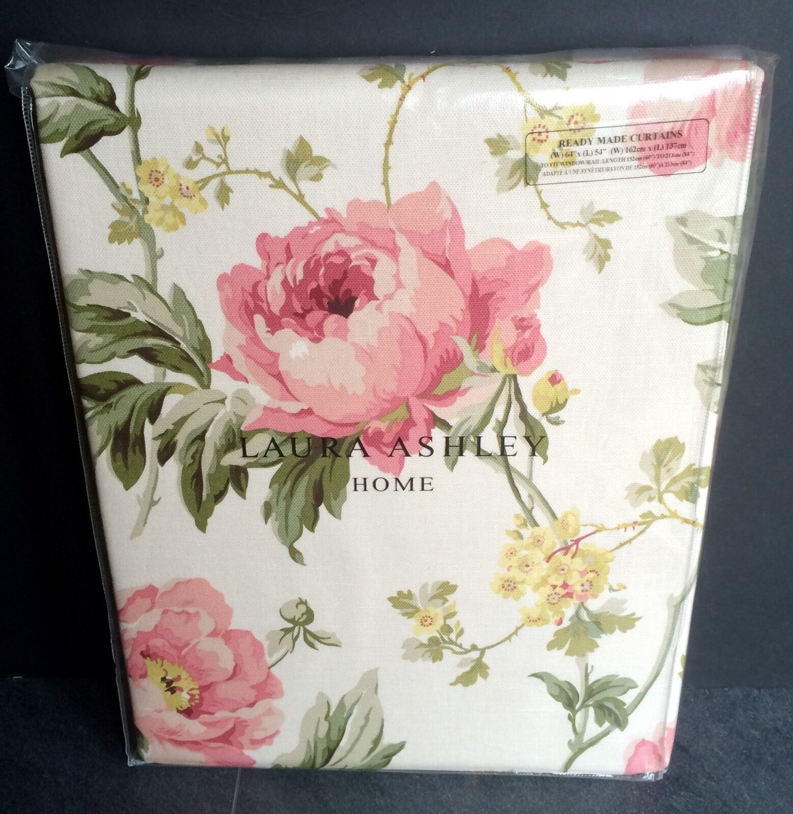 Laura Ashley Curtains Peony Garden Cranberry 64 X 54 Floral 162 137 New