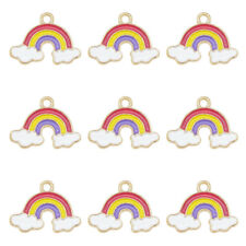 23x16mm UK Seller Gifts Jewellery//Craft Making 5-30 Rainbow Enamel Charms