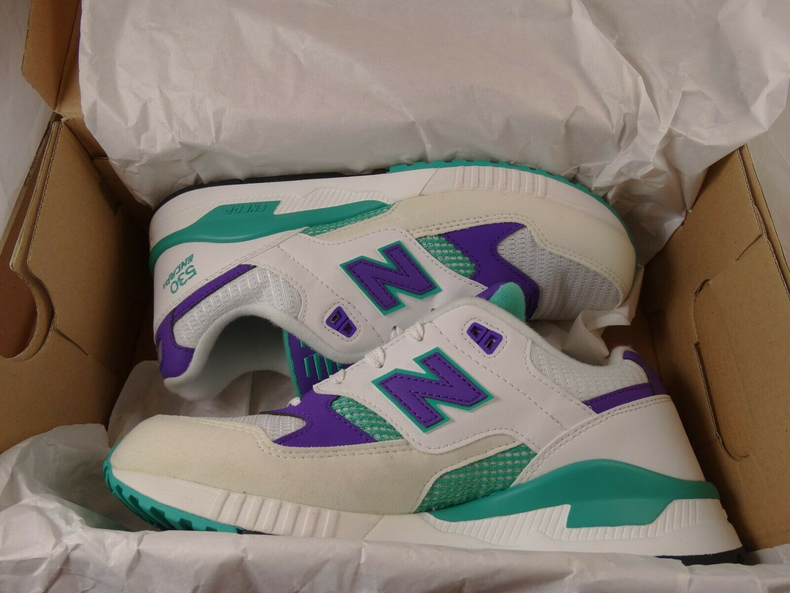 New Balance M530 Size 8 Purple and Teal Mens lifestyle shoes