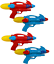 miniatura 1 - 4 X Acqua Pistole 29cm Super Soaker Set Lotta Cannone Giardino & Spiaggia 1230
