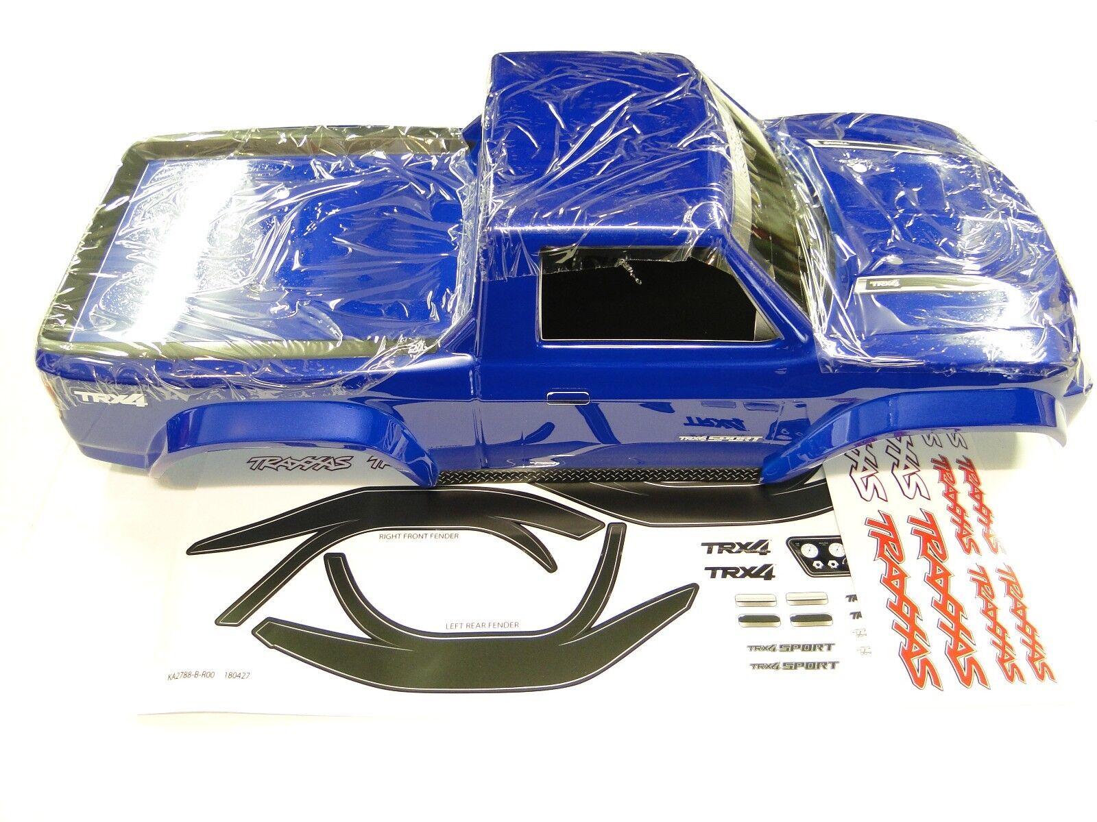 NEW TRAXXAS TRX-4 SPORT Body Factory Painted blu RZ3B