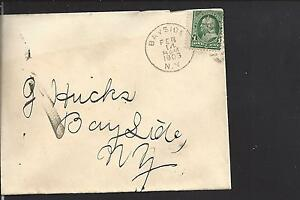 BAYSIDE, NEW YORK 1903 #279 COVER USED LOCALLY. QUEENS CO. 1867/08.