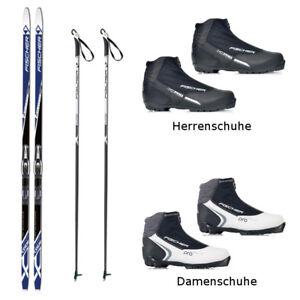 Langlaufski-Set Fischer SUMMIT CROWN klassisch + Bindung + Schuhe + Stöcke NEU