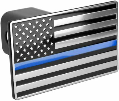 Cootack USA Stainless Steel Flag Emblem Trailer Metal Hitch Cover American Patriotic Plug for Trucks Black Fits 2 Receivers Black