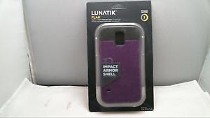 Lunatik-Flak-Dual-Layer-Protection-For-Samsung-Galaxy-S5-S-5-purple-black-FLKG5