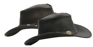 AgréAble Walker Et Hawkes-cuir De Vachette Outback Cowboy Conchos Chapeau-afficher Le Titre D'origine Bonne Conservation De La Chaleur