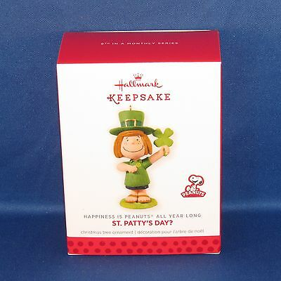 Hallmark - St. Patty's Day? Peanuts All Year Long #8 Keepsake Ornament - NEW