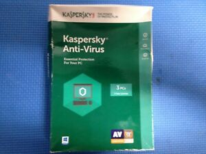 kaspersky antivirus 3 Pcs 1 year