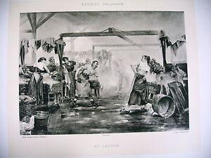 Art Phototypie Xixe D'après Ernest Delahaye - Au Lavoir Bq3o4eyi-10040248-503571719