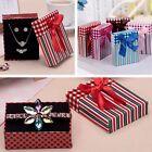 Hot Bowknot Necklace Bracelet Ring Jewellery Gift Boxes Bag Case Storage Xmas