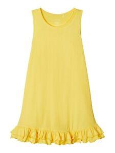 NAME-IT-Sommer-Jersey-Kleid-NKFVione-aermellos-gelb-Groesse-116-bis-164