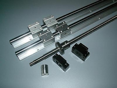 SBR20-1500mm linear 2 rail+RM1605 ball screw+1set BKBF12 bearing+nut housing CNC