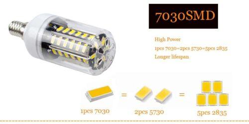 LED Corn Bulb E12 E26 E14 E27 B22 7030 SMD 40W 90W Equivalent Light Lamp SS217