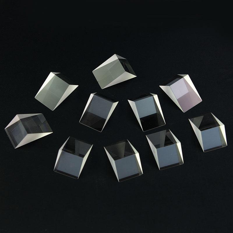 Biggest 95° Angl K9 Triangular Glass Prism 10Pcs For Physical Optics Experiment