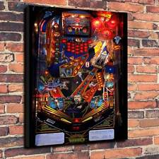 "Dr Who Pinball Playfield Printed Canvas A1.30""x20""~Deep 30mm Frame Mancave"