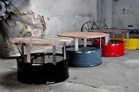 Fasstisch Fass Tisch Couchtisch aus 200l Neu Fass Pulverbesch Fassmöbel