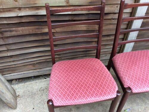 Vintage Retro Wooden Chair Set Of 4