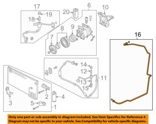 Pontiac GM OEM GTO A//C Condenser Compressor Line-AC Evaporator Tube 92209645