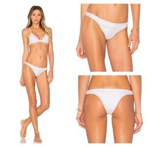 NEW-Revolve-Ellejay-Daniela-White-Bikini-Bottom-Size-Large-New-with-Tags