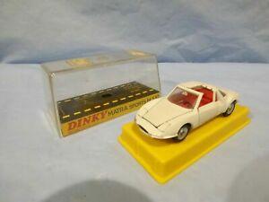 VINTAGE-Dinky-Toys-Meccano-1403-RARA-Bianco-MATRA-SPORT-M530-Auto-In-Scatola-Giocattolo-Modello