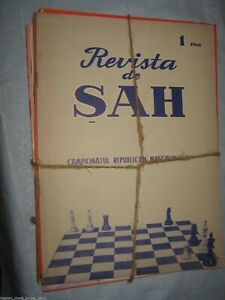 Details about Romanian Chess Magazine: Revista de SAH  Yearly complete set   1966