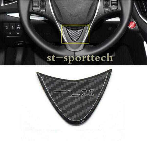 Carbon Fiber Style Steering Wheel Decorative Cover Trim