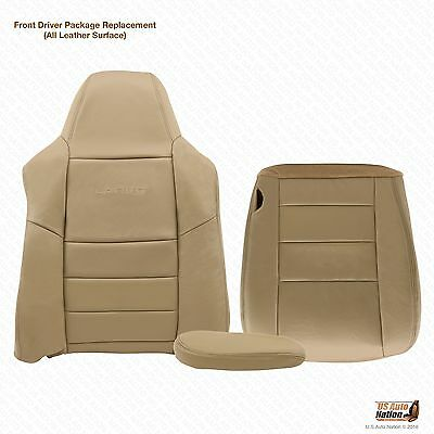 2003 Ford F250 F350 4x4 Lariat Diesel -DRIVER COMPLETE Leather Seat Covers Tan