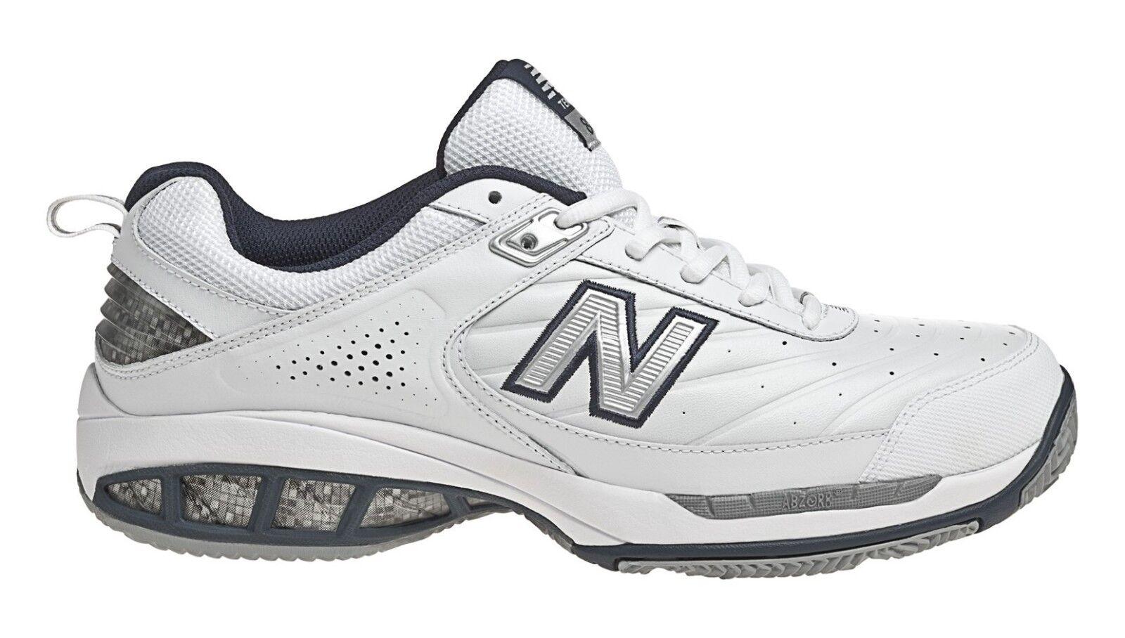 New Balance MC806W Men's Court 806 White Navy bluee Leather Core Tennis shoes