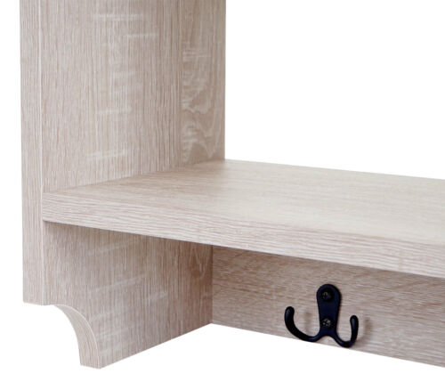 4 Haken 41x60x19cm 3D-Struktur Garderobe Regal Wandgarderobe HWC-C68
