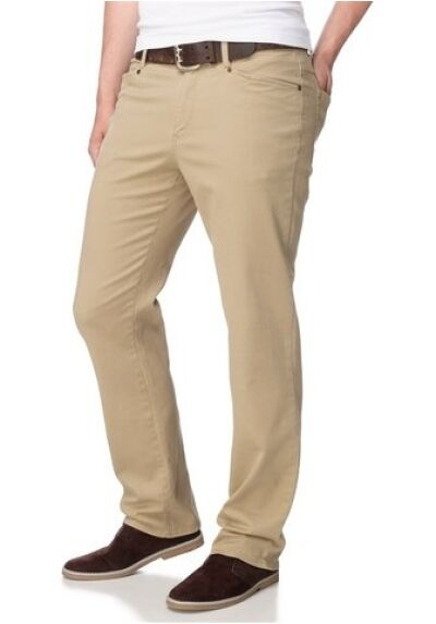 John F. Gee Cloth Trousers Lang-Gr.98 102 106 New Men's Straight Beige Stretch