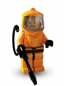 Nuclear Biohazard Yellow Suit Figure For Custom Lego Minifigures
