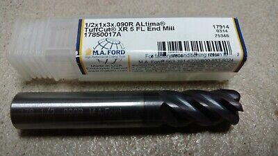 MA FORD 17850018A Altima Tuffcut XR 1//2 x 1 x 3 .125R 5 FLT CARBIDE END MILL