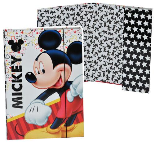 """Zettel und Mappen Heftordner // Ordner A4 /"""" Mickey Mouse /"""" für Hefte Gummi"""